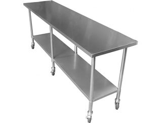 1.6m Stainless Steel Bench