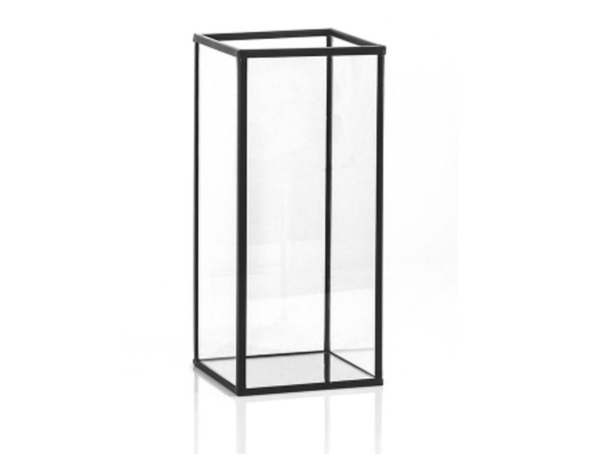Black Framed Glass Candle Box (22cm)