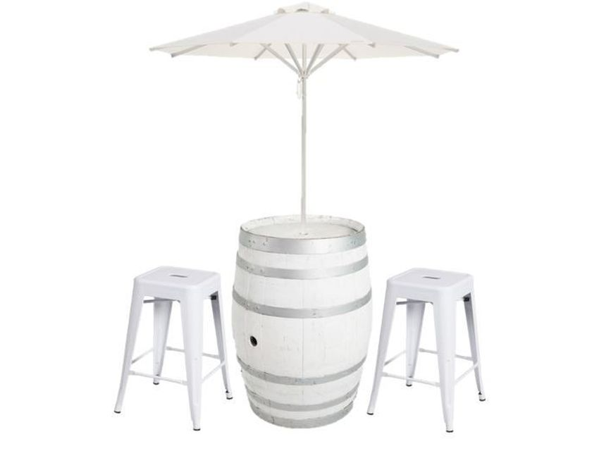 White Wine Barrel Umbrella Package