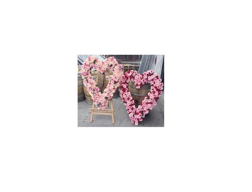 Giant Floral Heart - Dark Pink
