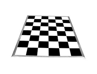 Black & White Tile Dancefloor -