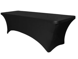 Black Lycra 6ft Trestle Table Cover