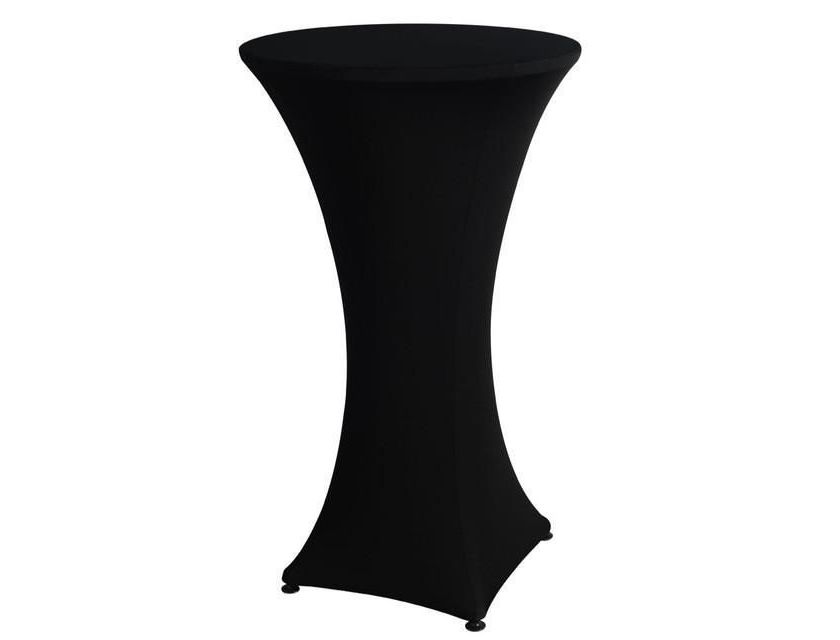 Black Lycra Bar Table Cover