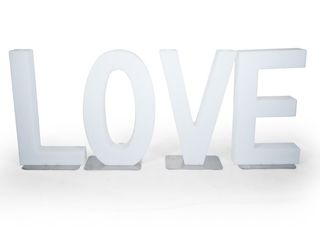LED - LOVE 80cm