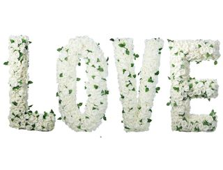 "Giant Floral ""LOVE"" - White"