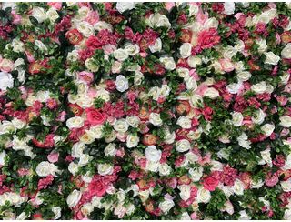 Summer Garden Flower Wall