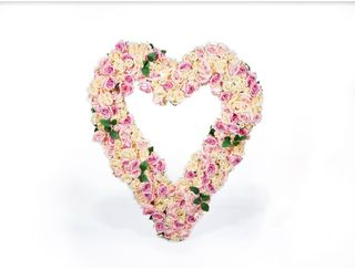 Giant Floral Heart Soft Pink