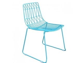 Teal Wire Chair