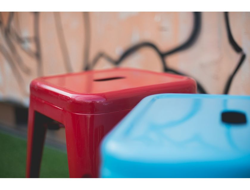 Tolix Rocket Stool  - Red