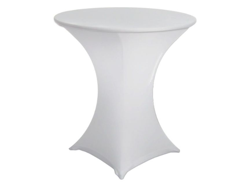 Lycra Cafe Table Cover - White