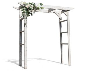 White Framed Arbour