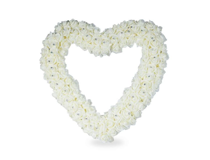 Giant Floral Heart - White