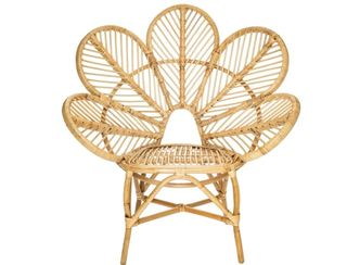 Flower  Cane Arm Chair