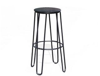 Hairpin Bar Stool Black