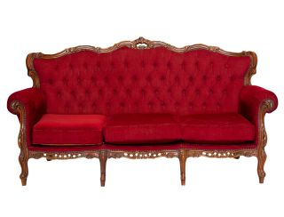 Vintage Lounge Set - Colonial Red