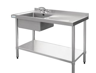 Stainless Sink and Bench - Hot Water