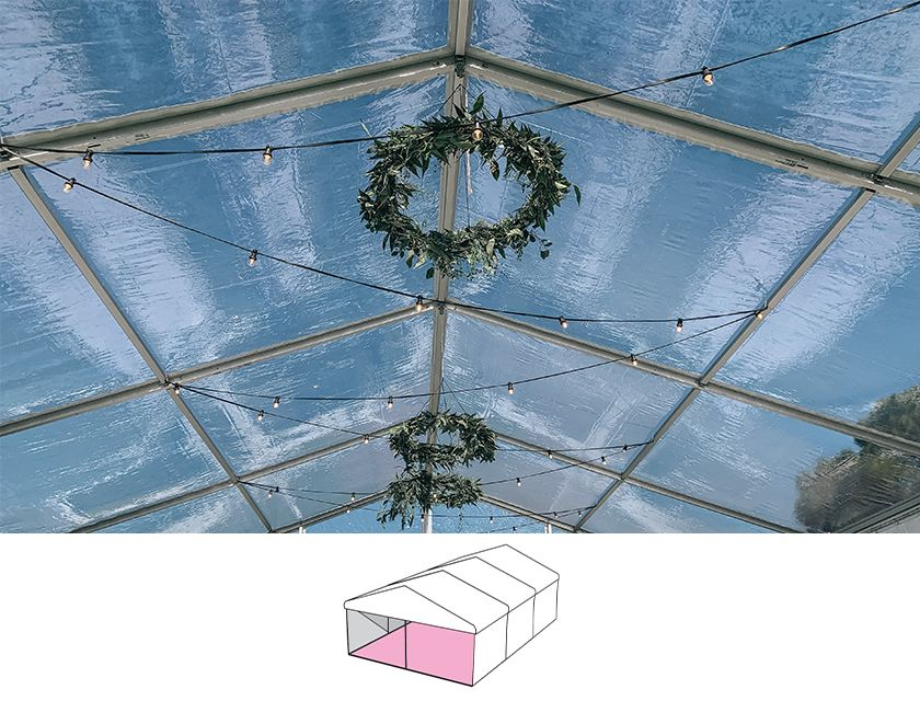 Clear Roof Pavilion - 6m x 9m -
