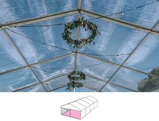 Clear Roof Pavilion - 6m x 12m -