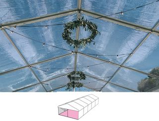 Clear Roof Pavilion - 6m x 15m -