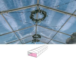 Clear Roof Pavilion - 6m x 21m -