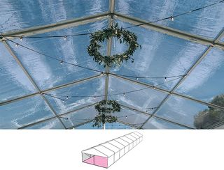 Clear Roof Pavilion - 6m x 24m -