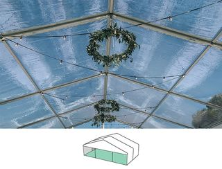 Clear Roof Pavilion - 10m x 6m -