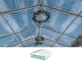 Clear Roof Pavilion - 10m x 9m -