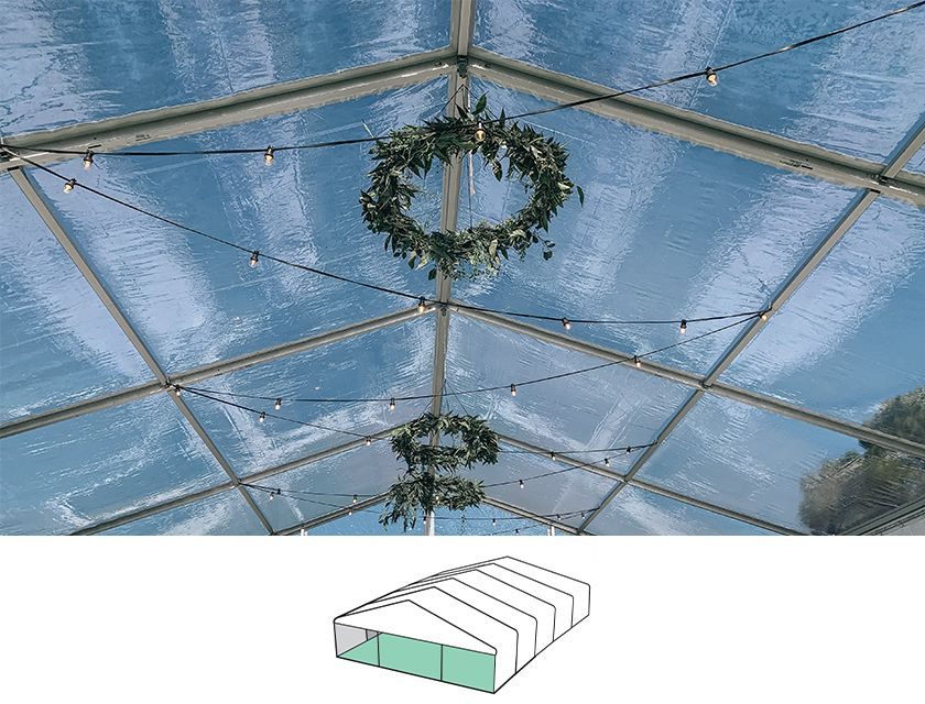 Clear Roof Pavilion - 10m x 15m -