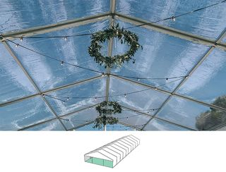 Clear Roof Pavilion - 10m x 30m -