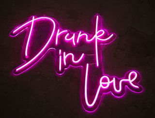 Drunk in Love - Neon Sign - Hot Pink
