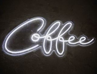 Coffee - Neon Sign - White