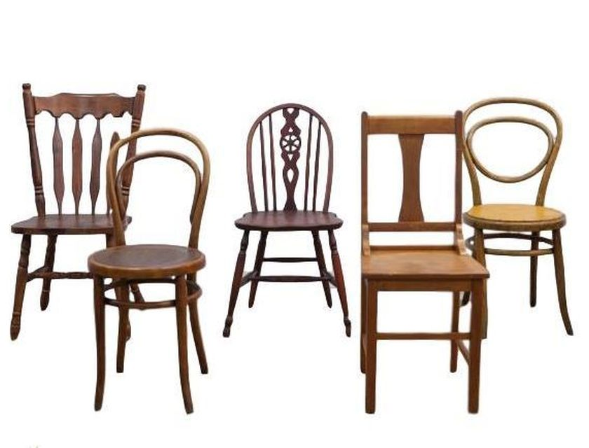 Eclectic Wooden Chairs - mixed