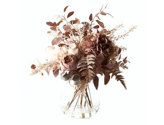 Dried Hydrangea Rose Mix in Vase 61cm